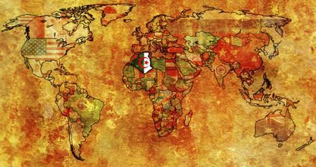 algeria on world map