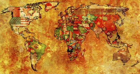 angola on world map