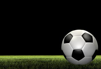 A render of a football soccer ball over grass