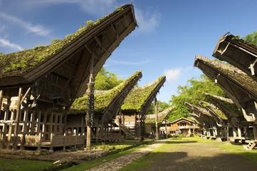 Fotobehang Indonesië Kete Kesu, Toraja Dorf, Rantepao, Sulawesi/Indonesien