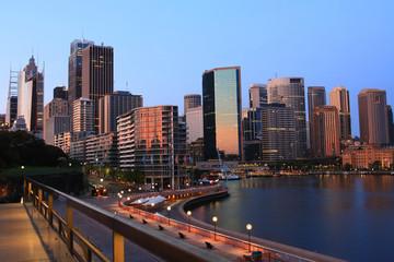 Sydney city, Australia, at dawn.