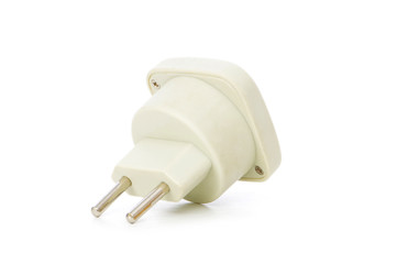 Electric adaptor isolated on the white background