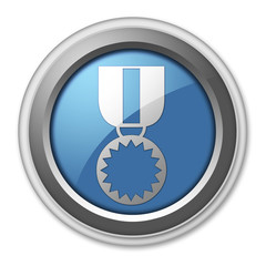 "3D Style Button ""Award Medal"""