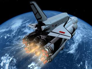 Obraz premium Statek kosmiczny