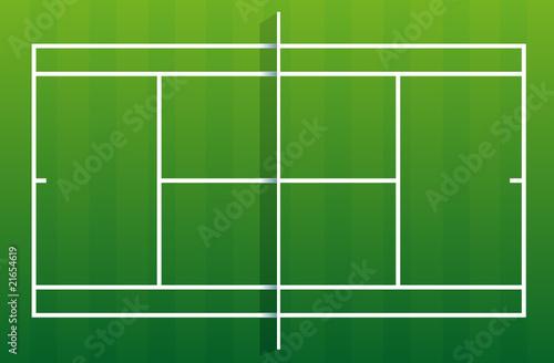 Terrain de tennis gazon fichier vectoriel libre de for Prix construction terrain de tennis