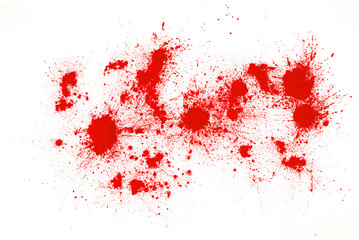 red powder on a white background