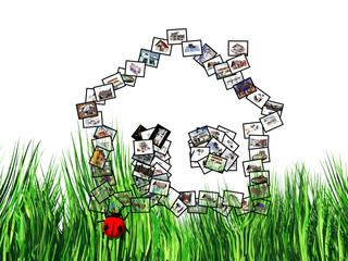 la maison dans l'herbe