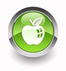 ''Apple fruit'' glossy icon