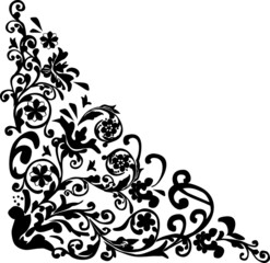 floral trigonal black design