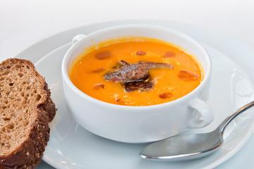 pumpkin soup with foie gras
