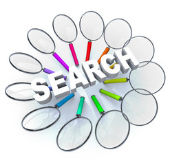 Search - Magnifying Glasses in Circle