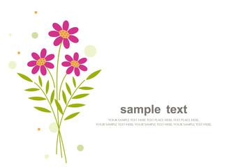 Bouquet of flowers - vector