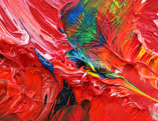 close-up view of an oil painting 07
