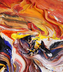 close-up view of an oil painting 06