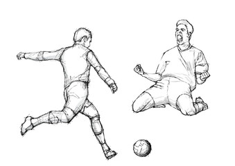 sketching of the soccer