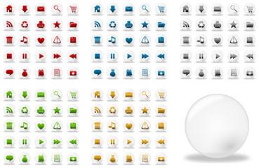 Icônes bulles