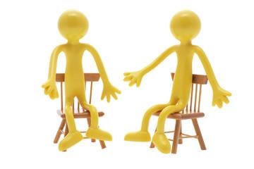 Sitting Miniature Figures