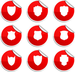 Shield stickers.