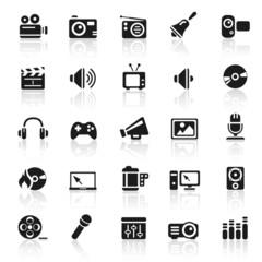 set 11 - entertainment icons - black series