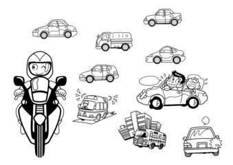 クルマ&バイクのカット!