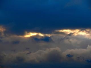 Clouds. Sunrise. City.