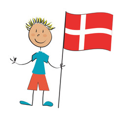drapeau enfant danemark