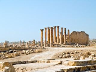Temple of Artemis in Jerash, Jordan.