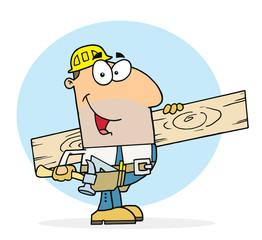Happy Worker Man