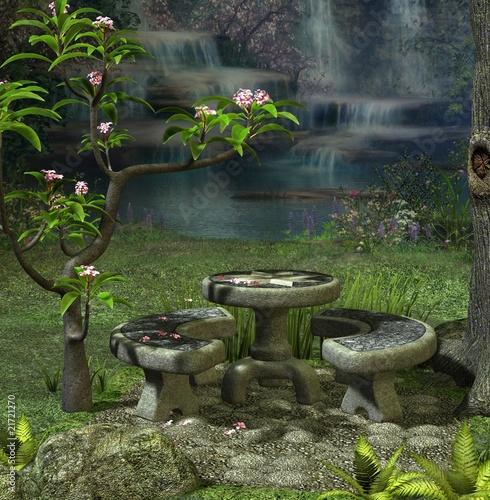 romantischer garten stockfotos und lizenzfreie bilder auf bild 21721270. Black Bedroom Furniture Sets. Home Design Ideas