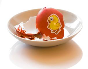 Eaten easter egg