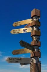 Entfernungsangaben am Kap der guten Hoffnung - Südafrika