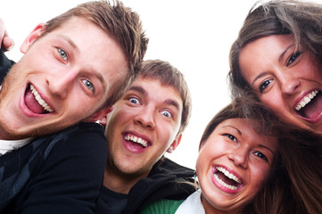 cheerful young people