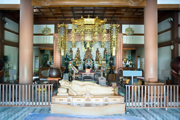 Interior of a Japanese Buddhist temple