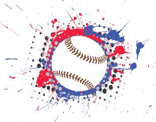 Splatter Baseball Vector