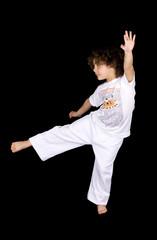 Mulatto girl kicking