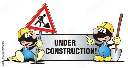 Baustelle schild comic  Maulwurf Baustelle