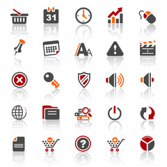 3 color icons - web internet - set 2