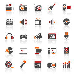3 color icons - entertainment - set 11