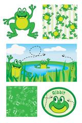 Fun Vector Frogs