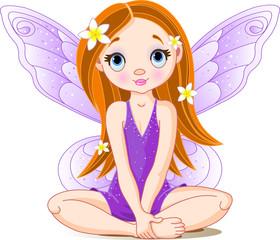 Canvas Prints Fairytale World Little cute fairy
