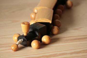 Holzspielzeug Eisenbahn alt