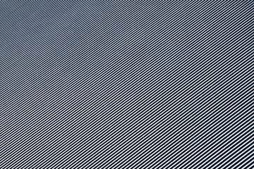 A striped metallic surface