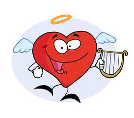 Angel Red Heart