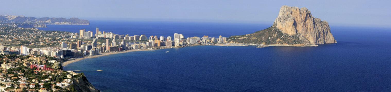 Panoramic view of Calpe City