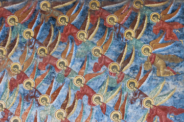 Detail from a fresco painting from Sucevita Monastery, Romania