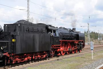 Historic Steam Train at Station