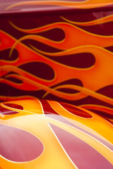 Wall Mural - background of colorful flaming paintwork