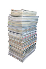 Big stack of magazines