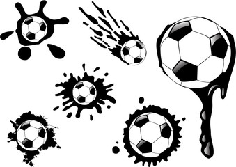 the vector soccer ball blot