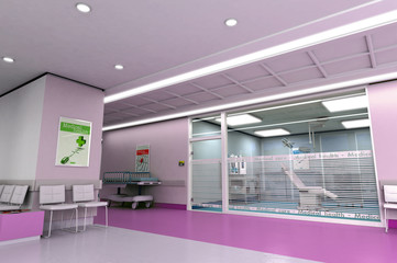 Medical center in purple